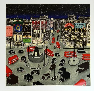 London 1943, Piccadilly Circus 1994 Limited Edition Print by Linnea Pergola