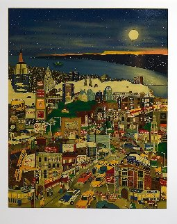 Moonlight Over Manhattan 1994 Limited Edition Print - Linnea Pergola