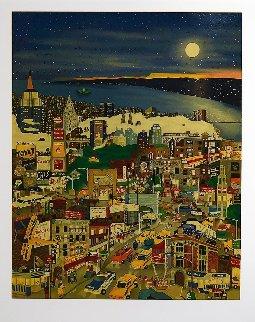 Moonlight Over Manhattan 1994 Limited Edition Print by Linnea Pergola