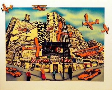 Hailing a Sky Cab Limited Edition Print - Linnea Pergola