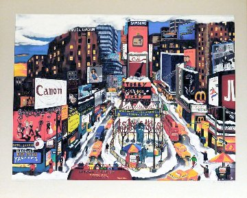 Times Square in the Snow 1995 Limited Edition Print - Linnea Pergola