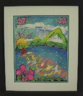 Mountain Rain 31x27 Original Painting by Linnea Pergola - 1