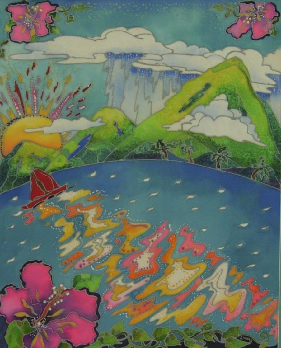 Mountain Rain 31x27 Original Painting by Linnea Pergola