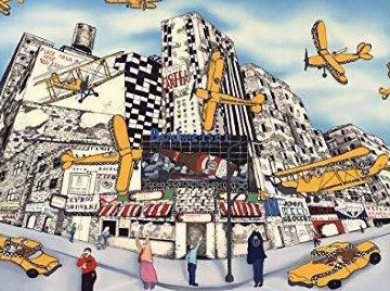 Hailing a Sky Cab 1990 Limited Edition Print by Linnea Pergola
