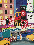 A Taste of Times Square 2001 30x24 Original Painting - Linnea Pergola