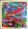 Frolicking Koi Fish 2009 Limited Edition Print by Linnea Pergola - 1