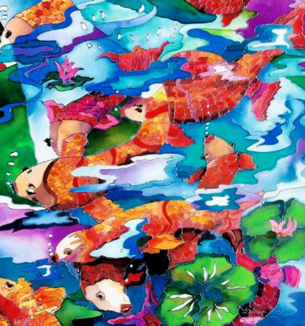 Frolicking Koi Fish 2009 Limited Edition Print by Linnea Pergola