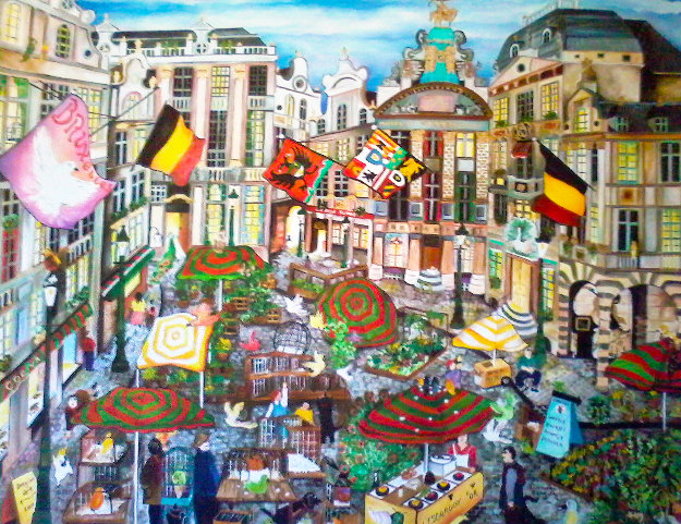 Les Oiseaux à Bruxelles 2012 Limited Edition Print by Linnea Pergola
