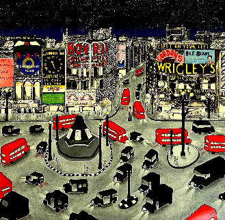 London 1943 Piccadilly Circus PP 1990 Limited Edition Print - Linnea Pergola