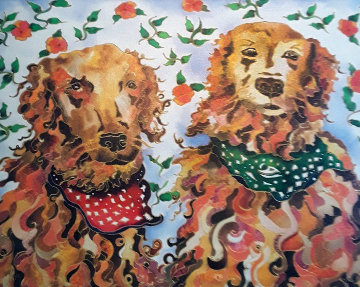 Beau And Blaze 2009  Limited Edition Print - Linnea Pergola