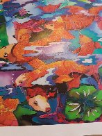 Frolicking Koi Fish 2009 Limited Edition Print by Linnea Pergola - 11
