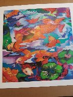 Frolicking Koi Fish 2009 Limited Edition Print by Linnea Pergola - 1