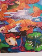 Frolicking Koi Fish 2009 Limited Edition Print by Linnea Pergola - 6