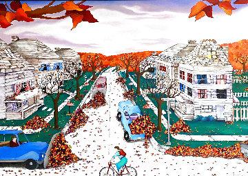 Center Avenue 1990 44x56 Huge  Original Painting - Linnea Pergola