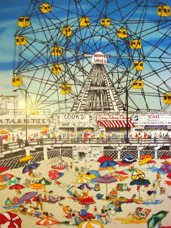 Wonder Wheel Limited Edition Print by Linnea Pergola
