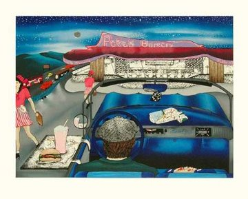 Pete's Burger 1991 Limited Edition Print by Linnea Pergola