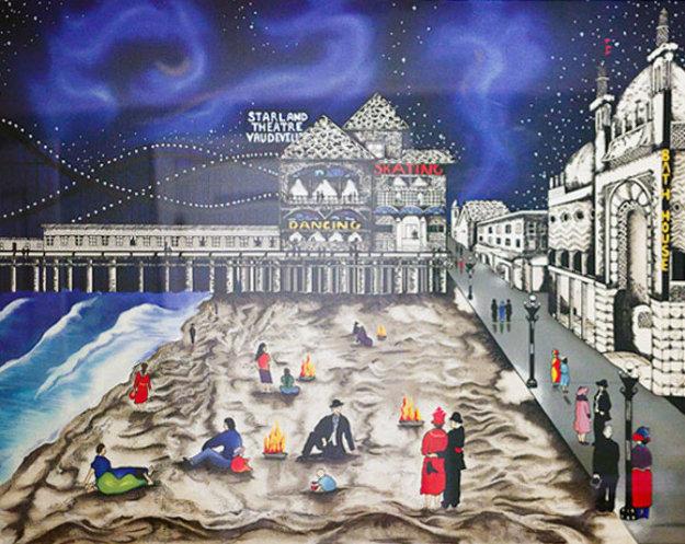Seaside Nights, Northern Lights 1990 Limited Edition Print by Linnea Pergola