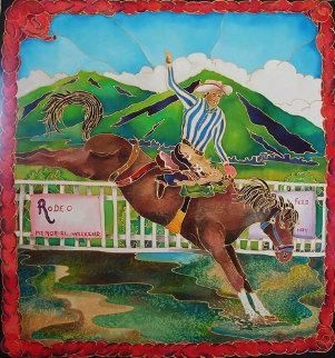 Rodeo 33x31 Original Painting by Linnea Pergola