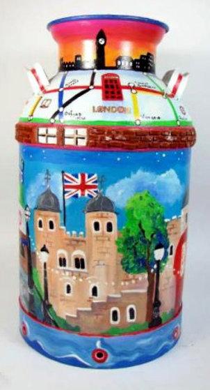 Favorite London Places 1985 23x13 Original Painting by Linnea Pergola