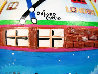 Favorite London Places 1985 23x13 Original Painting by Linnea Pergola - 2