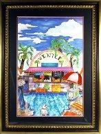 Venice Beach, California 43x30  Huge Original Painting by Linnea Pergola - 1