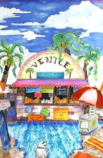 Venice Beach, California 43x30  Huge Original Painting - Linnea Pergola
