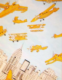 Skycabs 1990 36x28 Original Painting by Linnea Pergola
