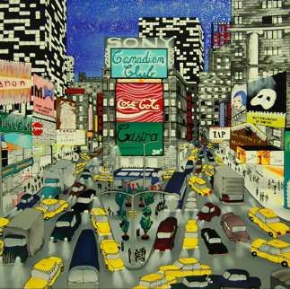Sign of the Times, Times Square 1990 Limited Edition Print by Linnea Pergola