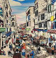 Mulberry Street, New York (Little Italy) Super Huge Limited Edition Print by Linnea Pergola - 0
