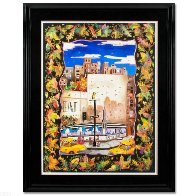 Fall in NYC 52x42 Super Huge Original Painting by Linnea Pergola - 1