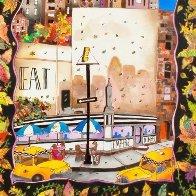Fall in NYC 52x42 Super Huge Original Painting by Linnea Pergola - 2