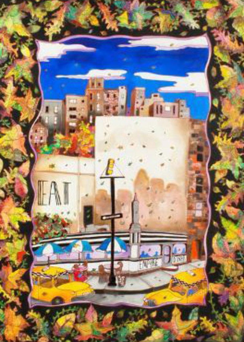Fall in NYC 52x42 Super Huge Original Painting by Linnea Pergola