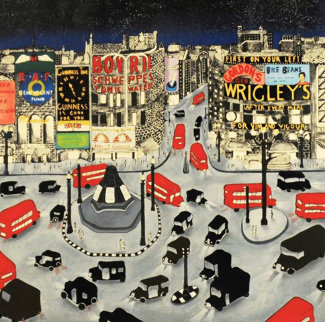 Piccadilly Square AP 1990 Limited Edition Print by Linnea Pergola