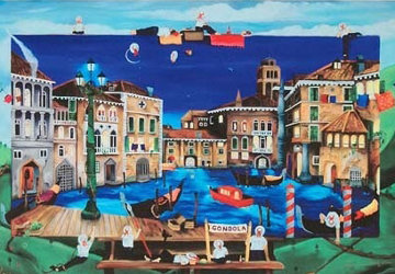 Gondolier's Break 2008 Venice, Italy Limited Edition Print - Linnea Pergola