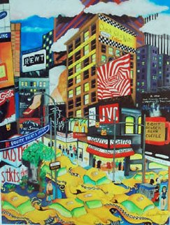 NY Frenzy 2008 Limited Edition Print by Linnea Pergola