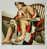 Hunzinger Chair And Wooden Swan 1995 Limited Edition Print by Philip Pearlstein - 0