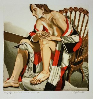 Hunzinger Chair And Wooden Swan 1995 Limited Edition Print - Philip Pearlstein