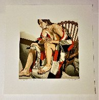 Hunzinger Chair And Wooden Swan 1995 Limited Edition Print by Philip Pearlstein - 1