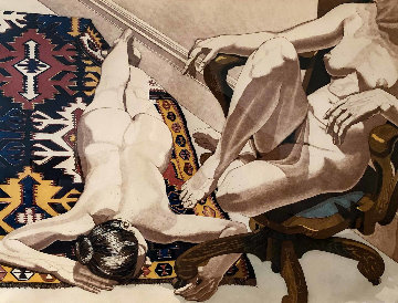 Models in the Studio 1976 Limited Edition Print - Philip Pearlstein