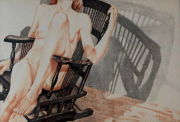 Nude in Rocking Chair 1976 Limited Edition Print by Philip Pearlstein
