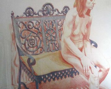 Girl on Iron Bench 1974 Limited Edition Print by Philip Pearlstein