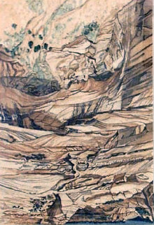 Mummy Cave Ruins At Canyon De Chelly 1980 47x36 Huge  Limited Edition Print - Philip Pearlstein