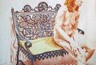 Girl  on an Iron Bench  1974 Limited Edition Print by Philip Pearlstein - 0