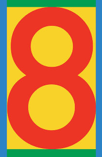 Number 8-2 2013 Limited Edition Print by Peter Blake