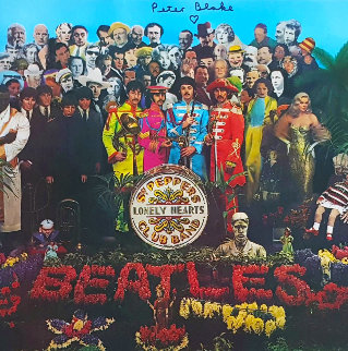 The Beatles Sgt. Pepper's Lonely Hearts Club Band LP (Signed) 1990 w Remarque Other - Peter Blake