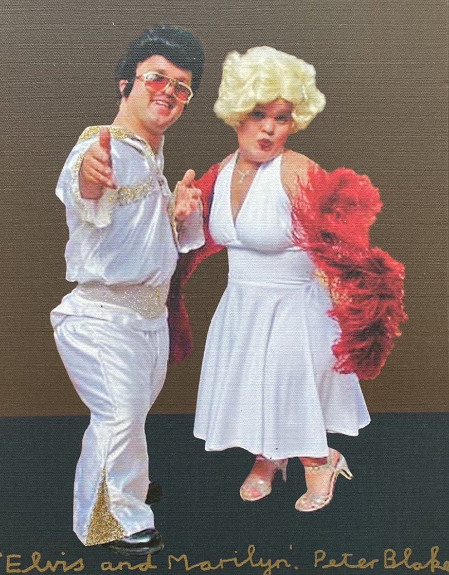 Elvis and Marilyn Unique  2012  14x11 Works on Paper (not prints) by Peter Blake
