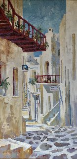 Cyklades 1993 70x40 Original Painting by Endre Peter Darvas