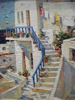 Kiklades  2006 20x16 Original Painting - Endre Peter Darvas