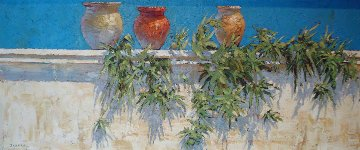 Plantes de Aire 2007 24x60 Original Painting - Endre Peter Darvas