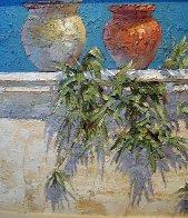 Plantes de Aire 2007 24x60 Super Huge  Original Painting by Endre Peter Darvas - 2